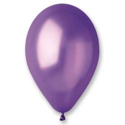 Balón metalický fialový, 26cm, 1ks