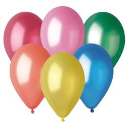 Balón metalický mix farieb, 30cm, 50ks