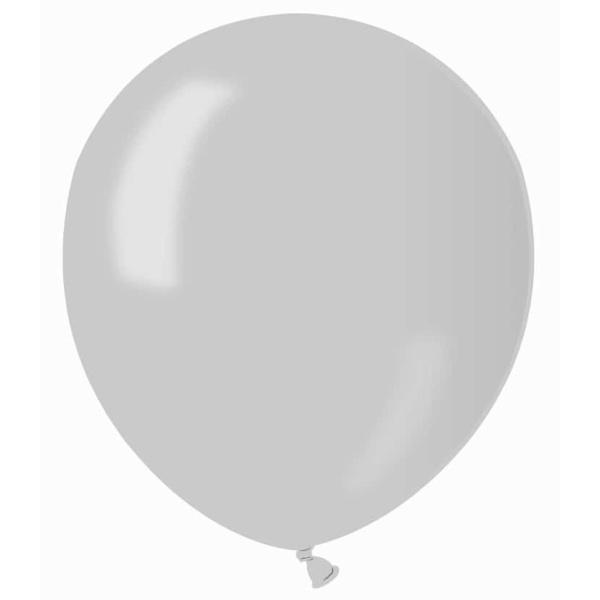 Balón metalický strieborný, 13cm, 1ks