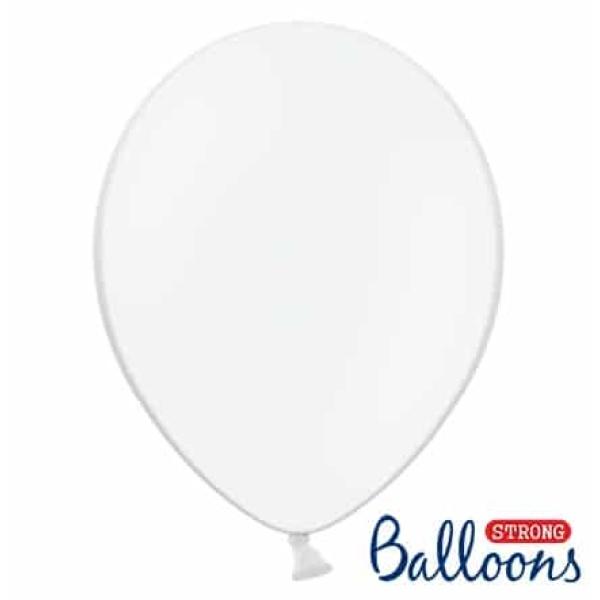 Balón pastelový biely, 23cm, 1ks