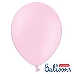 Balón pastelový bledoružový, 23cm, 1ks