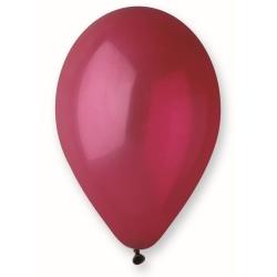 Balón pastelový bordový, 26cm, 1ks