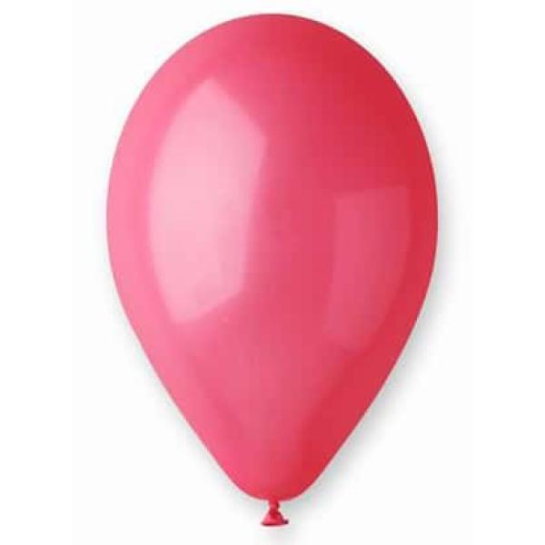 Balón pastelový červený, 30cm, 1ks