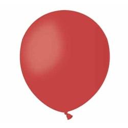 Balón pastelový červený tmavší, 13cm, 1ks