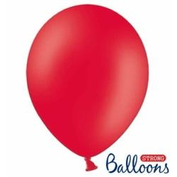 Balón pastelový červerný, 23cm, 1ks