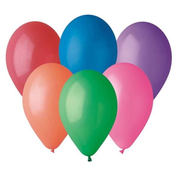 Balón pastelový mix farieb, 30cm, 100ks