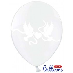 Balón Strong 30cm, HOLUBICE, transparent