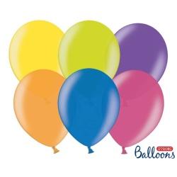 Balóny metalické mix farieb, 23cm, 100ks
