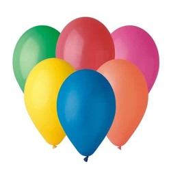 Balóny pastelové mix farieb, 26cm, 50ks