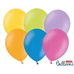 Balóny pastelové mix farieb, 50ks