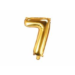 Fóliový balón číslo 7, zlatý, 35cm