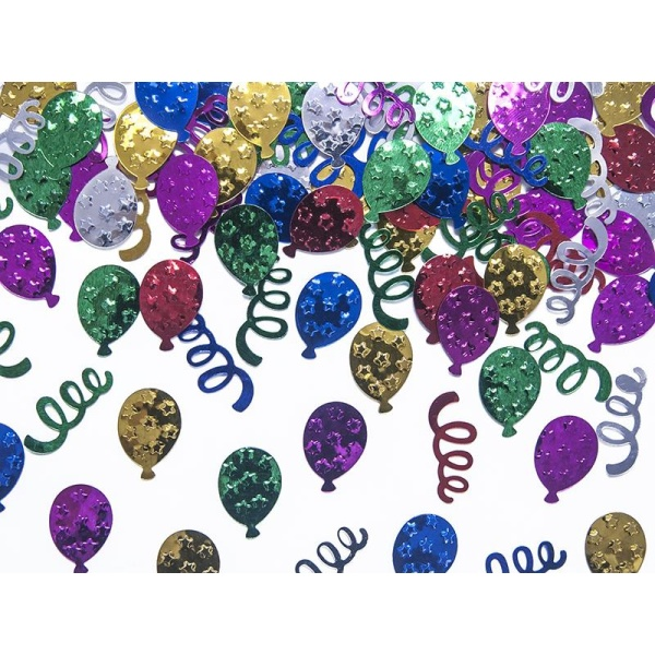 Konfety fóliové balóny, farebné, 15g