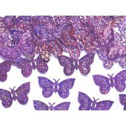 Konfety holografické fóliové motýle, ružové, 15g