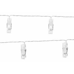 LED svietiace štipce na fotografie