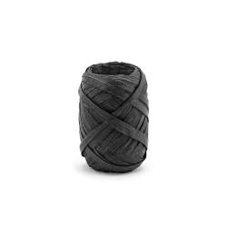 Ozdobná stuha Raffia, čierna, 5mm x 10m