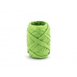 Ozdobná stuha Raffia, zelená, 5mm x 10m