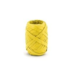 Ozdobná stuha Raffia, žltá, 5mm x 10m