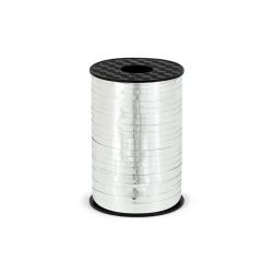 Ozdobná stuha strieborná lesklá, 5mm x 225m
