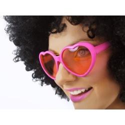 Párty okuliare SRDCE, ružové