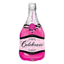 Balón fóliový Šampus ružový, 99cm