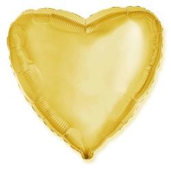 Balón fóliový Srdce zlaté, 46cm