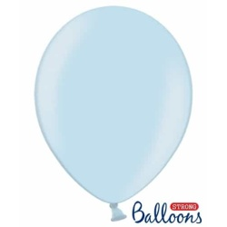 Balón metalický bledomodrá, 30cm, 1ks