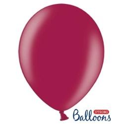 Balón metalický bordový, 30cm, 1ks