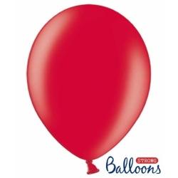 Balón metalický červený, 30cm, 1ks