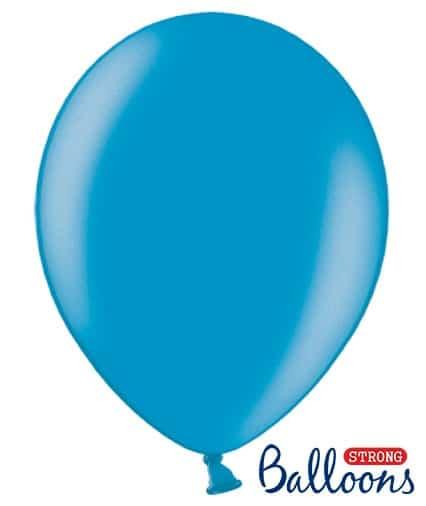 Balón metalický modrý, 30cm, 1ks