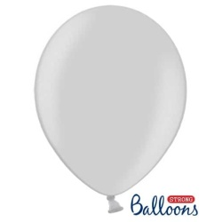 Balón metalický strieborný, 30cm, 1ks