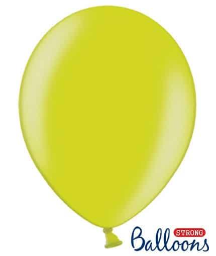 Balón metalický zelená limetková, 30cm, 1ks