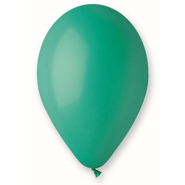 Balón pastelový tmavozelený, 26cm, 1ks