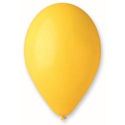 Balón pastelový tmavožltý, 26cm, 1ks