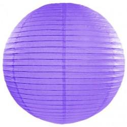 Lampión dekoračný fialový, guľa, 35cm