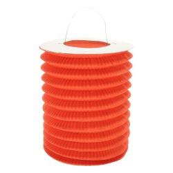 Lampión valec oranžový, priemer 15cm, na sviečku