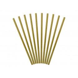 Papierové slamky zlaté lesklé, 10ks
