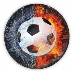 Papierové taniere Futbal, 23cm, 8ks