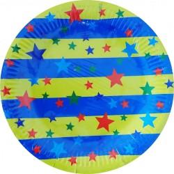 Papierové taniere Hviezdičky, 23cm, 12ks