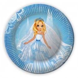 Papierové taniere Princezny, 23cm, 8ks