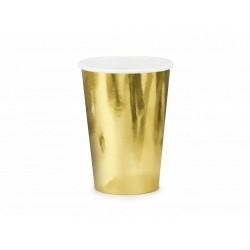 Papierový pohár zlatý, 220ml, 6ks