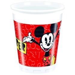 Plastové poháre Mickey Mouse, 8ks