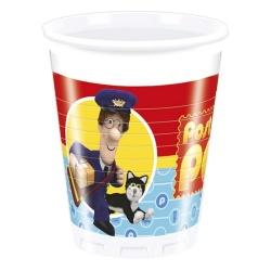 Plastové poháre Poštár Pat, 8ks
