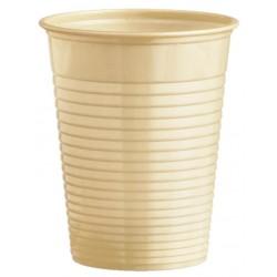 Plastový pohár béžový, 10ks
