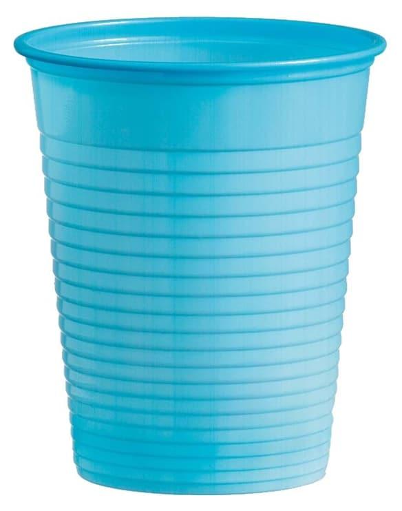 Plastový pohár bledomodrý, 10ks