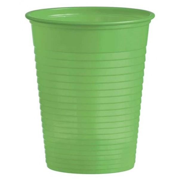 Plastový pohár bledozelený, 10ks
