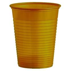 Plastový pohár zlatý, 10ks