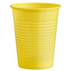 Plastový pohár žltý, 10ks