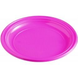Plastový tanier bledofialový, 22cm, 10ks