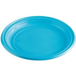 Plastový tanier bledomodrý, 22cm, 10ks