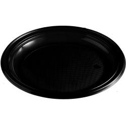 Plastový tanier čierny, 22cm, 10ks